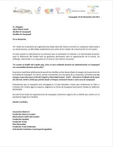 Solicitud Abierta a Nebot para el permiso del desfile GLBTI 2014 - Silueta X - Diverso Ecuador - Obervatorio GLBTI