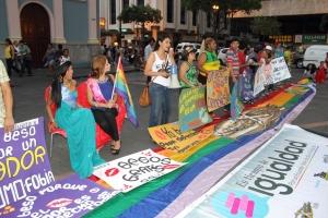 Beso Publico contra el rechazo a la Homofobia y Transfobia el dia 17 de mayo del 2014, evento realizado por Silueta X (47)