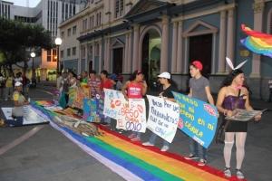 Beso Publico contra el rechazo a la Homofobia y Transfobia el dia 17 de mayo del 2014, evento realizado por Silueta X (53)