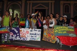 Beso Publico contra el rechazo a la Homofobia y Transfobia el dia 17 de mayo del 2014, evento realizado por Silueta X (72)
