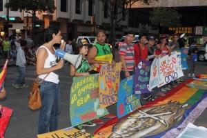 Beso Publico contra el rechazo a la Homofobia y Transfobia el dia 17 de mayo del 2014, evento realizado por Silueta X - Diane Rodriguez (7)