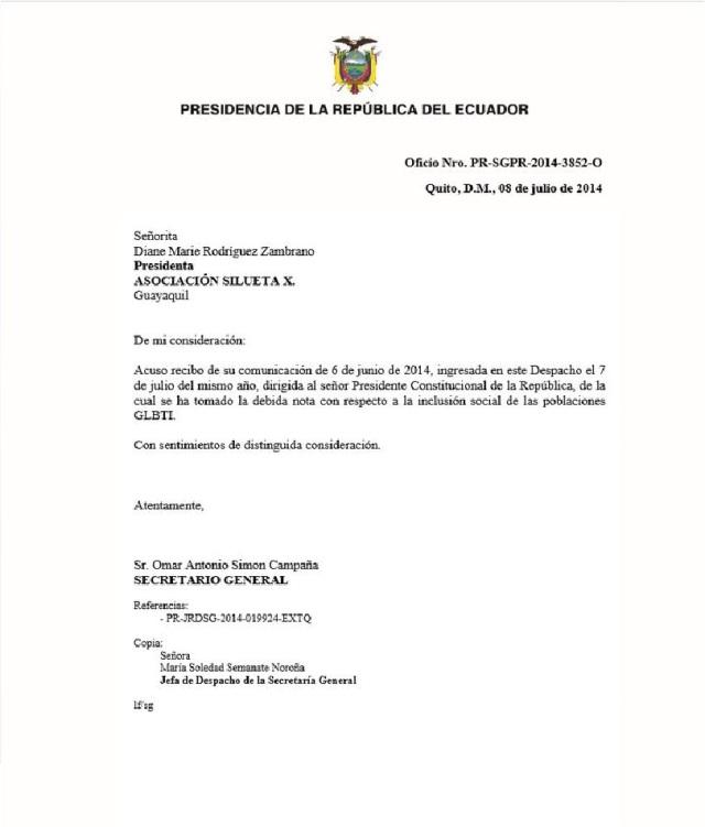 Acuerdo con Presidencia - respuesta-SiluetaX