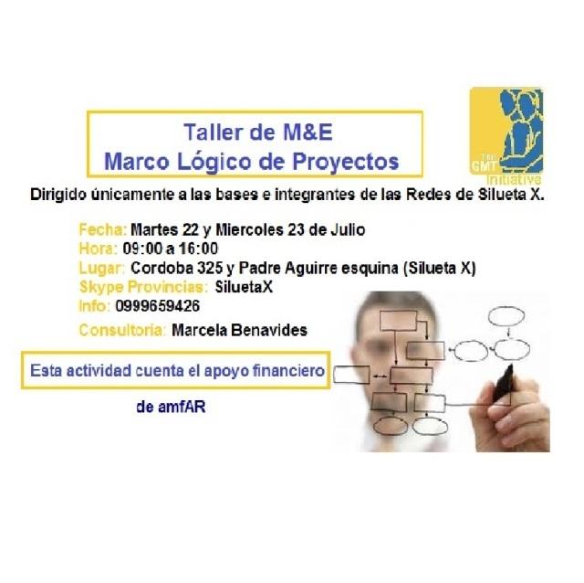 Taller de M&E - Marco lógico de proyectos con Marcela Benavides con el apoyo de amfAR