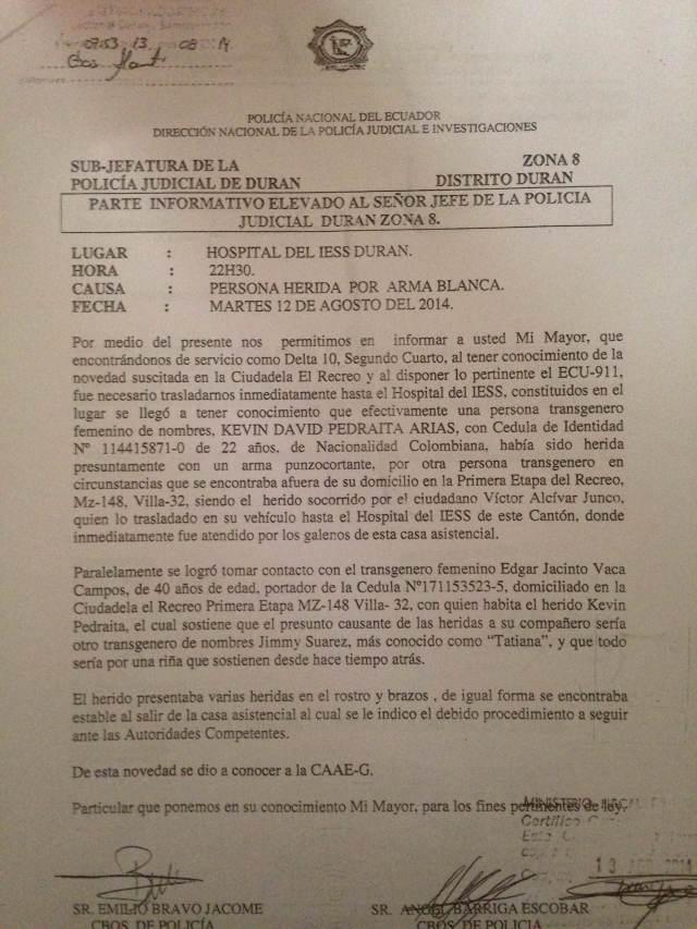 Documentos de denuncia de androgina presentada en Silueta X (2)