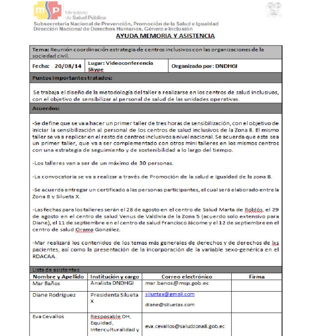 Sencibilización para Centros Inclusivos LGBTI-Siluetax-DianeRodriguez