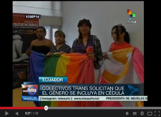 Ecuador colectivos trans piden incluir género en cédula de identidad-SiluetaX