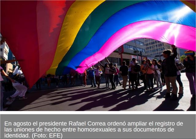 Homosexuales en Ecuador inscriben uniones de hecho