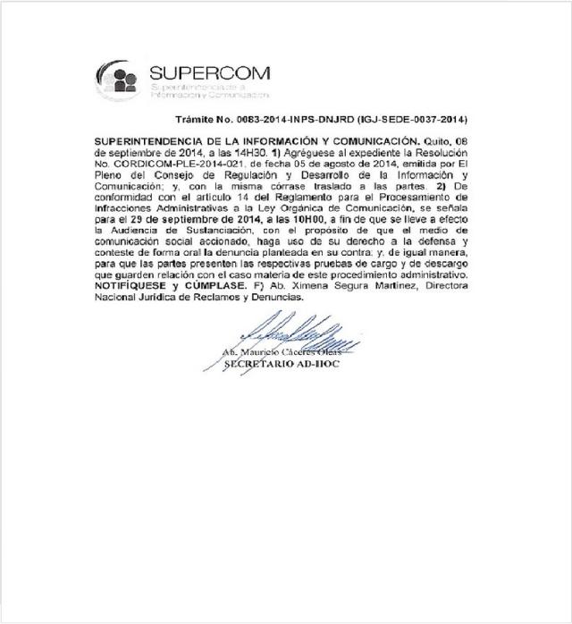 Trámite No. 0083-2014-INPS-DNJRD (IGJ-SEDE-0037-2014)