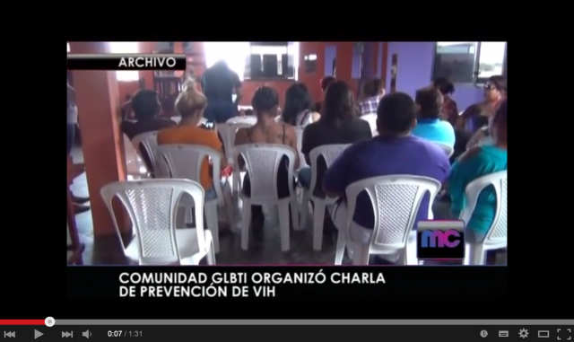 COMUNIDAD GLBTI ORGANIZÓ CHARLA DE PREVENCIÓN DE VIH