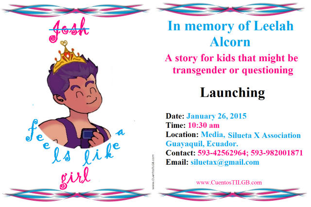 Launching Josh feels like a girl - In memory of Leelah Alcorn