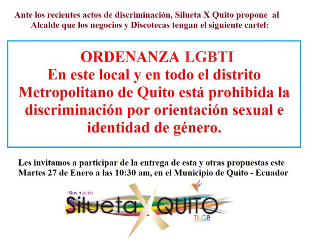 Modificación de ordenanza 240 de Quito Soilicitus al Alcalde Rodas