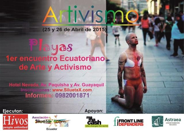 Primer enceuntro Ecuatoriano artivista - arte y activismo de poblaciones LGBT