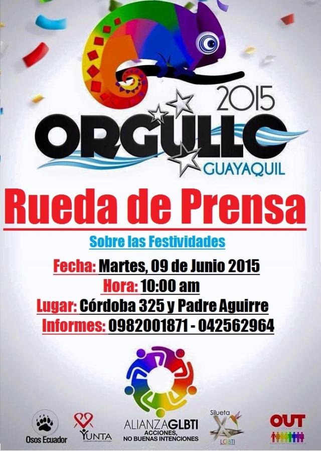 Rueda de Prensa, sobre el Orgullo y Diversidad Sexual LGBT 2015