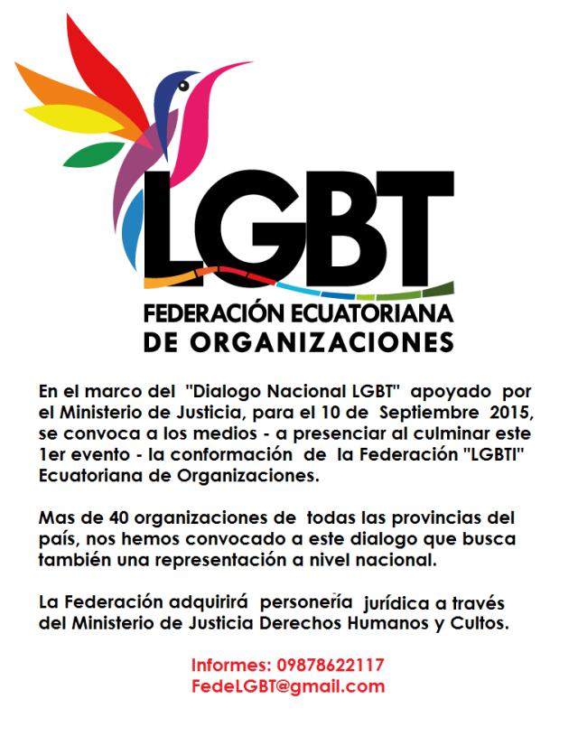 Conformación de la Federación Ecuatoriana de Organizaciones LGBT