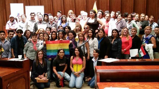 Federación Ecuatoriana de Organizaciones LGBT 2015 - Constitución en la Asamblea Nacional del Ecuador