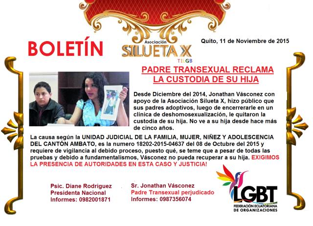 Padre transexual lucha por la custodia de su hija - Exigimos justicia - Asociación Silueta X