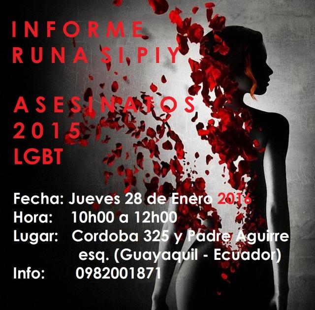 Rueda de Prensa Informe Runa Sipiy 2016 asesinatos lgbt