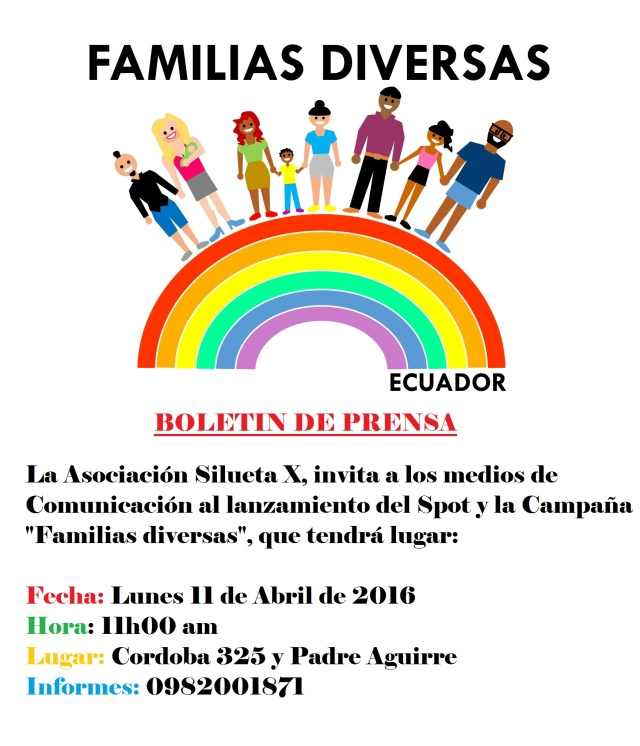 Boletin de Prensa campaña Familias Diversas Ecuador