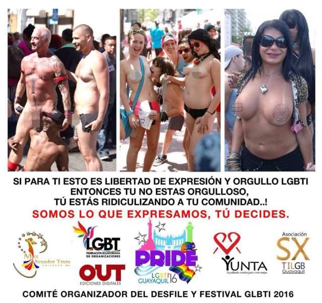 No se permitirá desnudos durante el Orgullo LGBTI 2016
