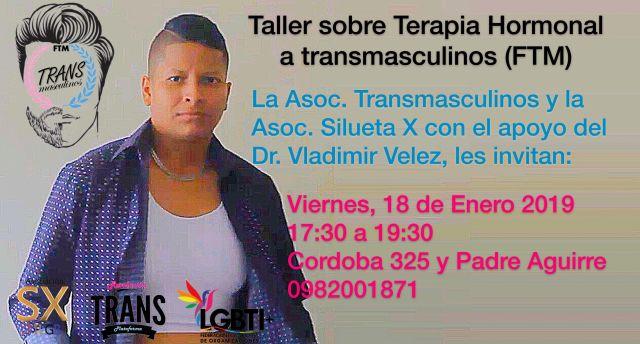 taller sobre terapia hormonal trh a transmasculinos hombres trans ftm en ecuador