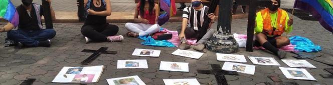 Memoria del plantón pacifico por el día de la #visibilidadetrans